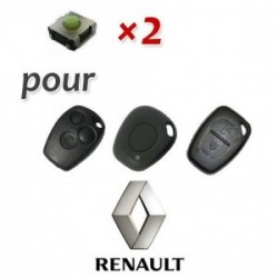 Lot de 2 Switch Clé Renault
