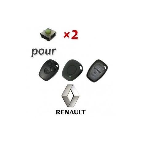 Lot de 2 Switch Clé Renault