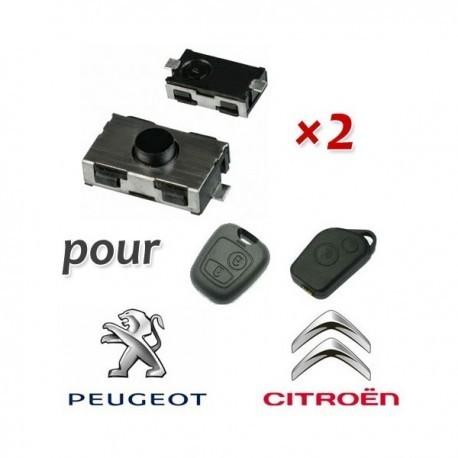 Lot de 2 Switch télecommande pour Peugeot