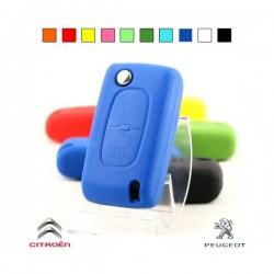 Housse 2 boutons Peugeot Citroen