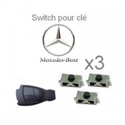 Lot de 3 Switch pour clé MERCEDES-BENZ