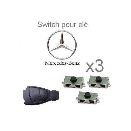 Lot de 3 Switch pour clé MERCEDES-BENZ