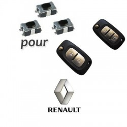 Lot de 3 Switch pour clé Renault