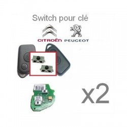 Lot de 2 Switch télecommande pour Peugeot/ Citroën