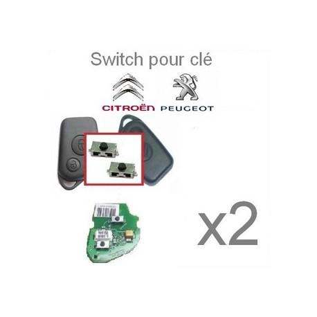 Lot de 2 Switch télecommande pour Peugeot/ Citroën