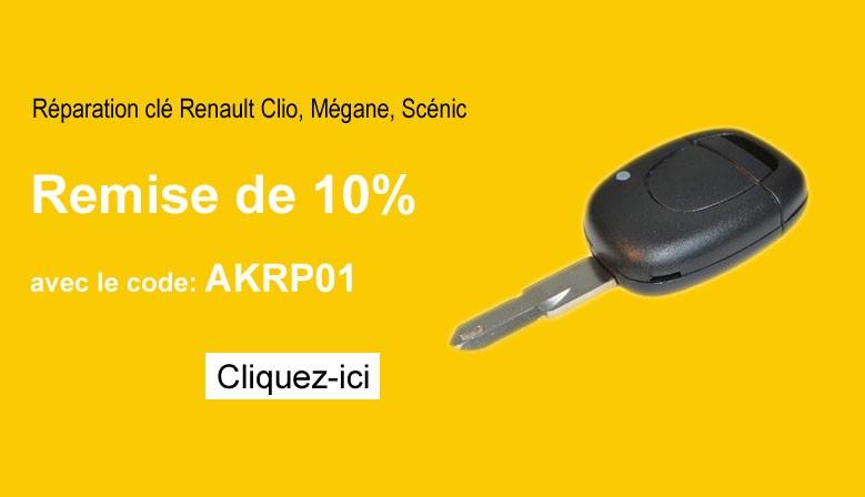 Forfait réparation clé Clio, Mégane, Scénic